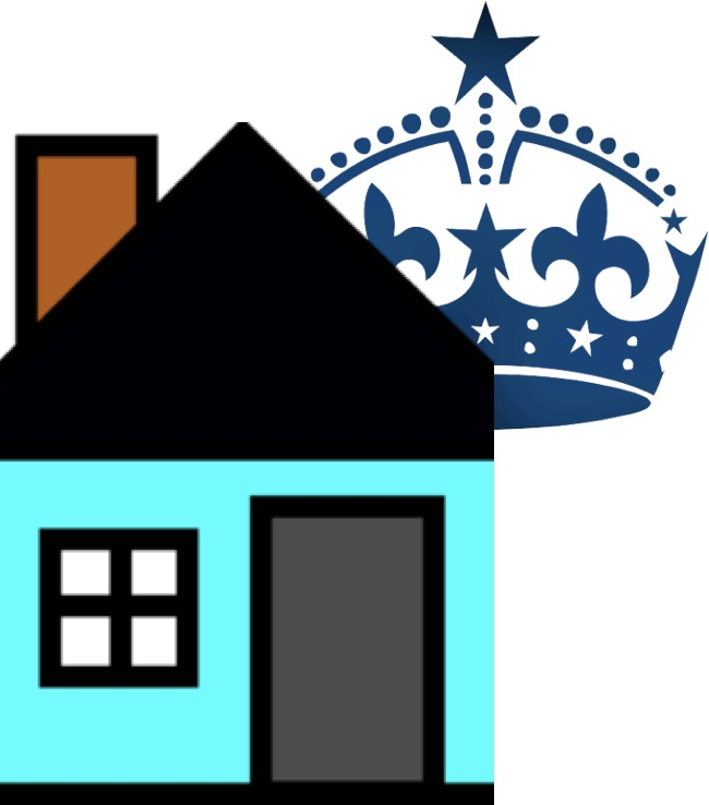 Image house with crown